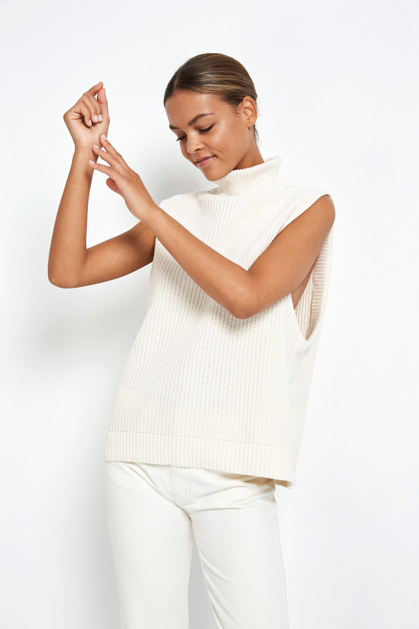 ENWASHINGTON SL KNIT, GARDENIA