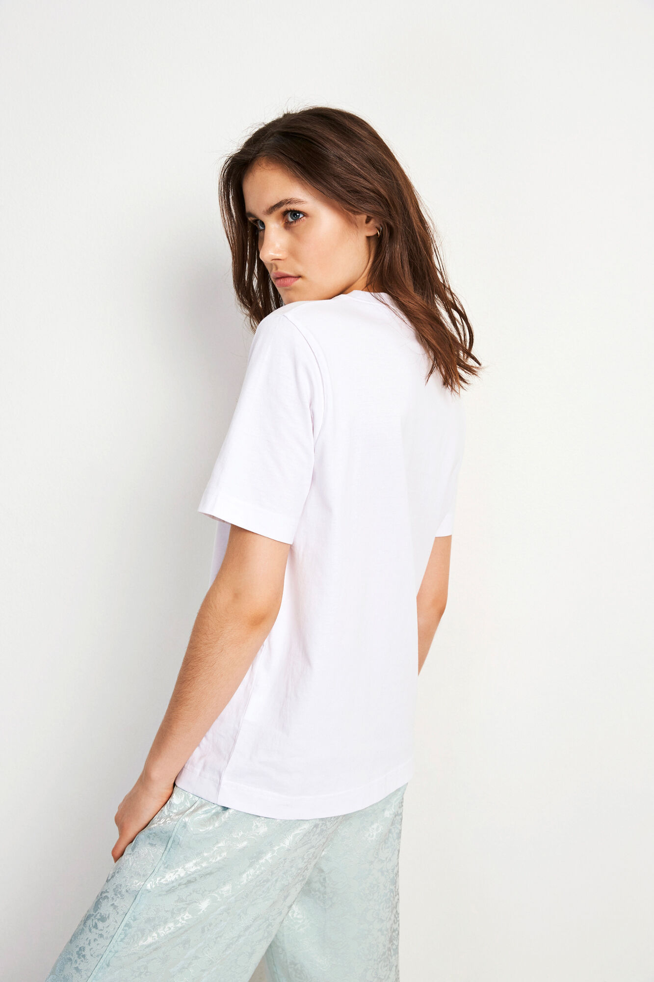 ENBEVERLY SS TEE 5867, WHITE