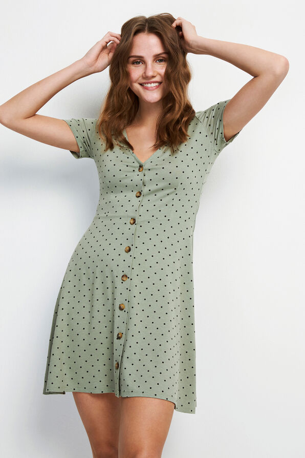 ENMUSIC SS DRESS AOP 5890, ICEBERG DOT