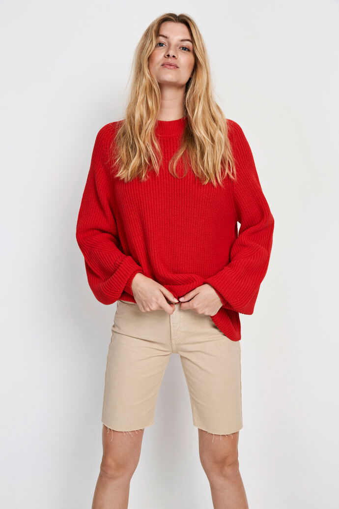 ENVICTOR LS KNIT 5207, HIGH RISK RED