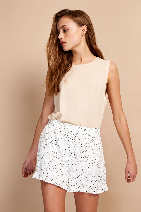 ENTARZANA SHORTS AOP 6605, CREAM DOT AOP