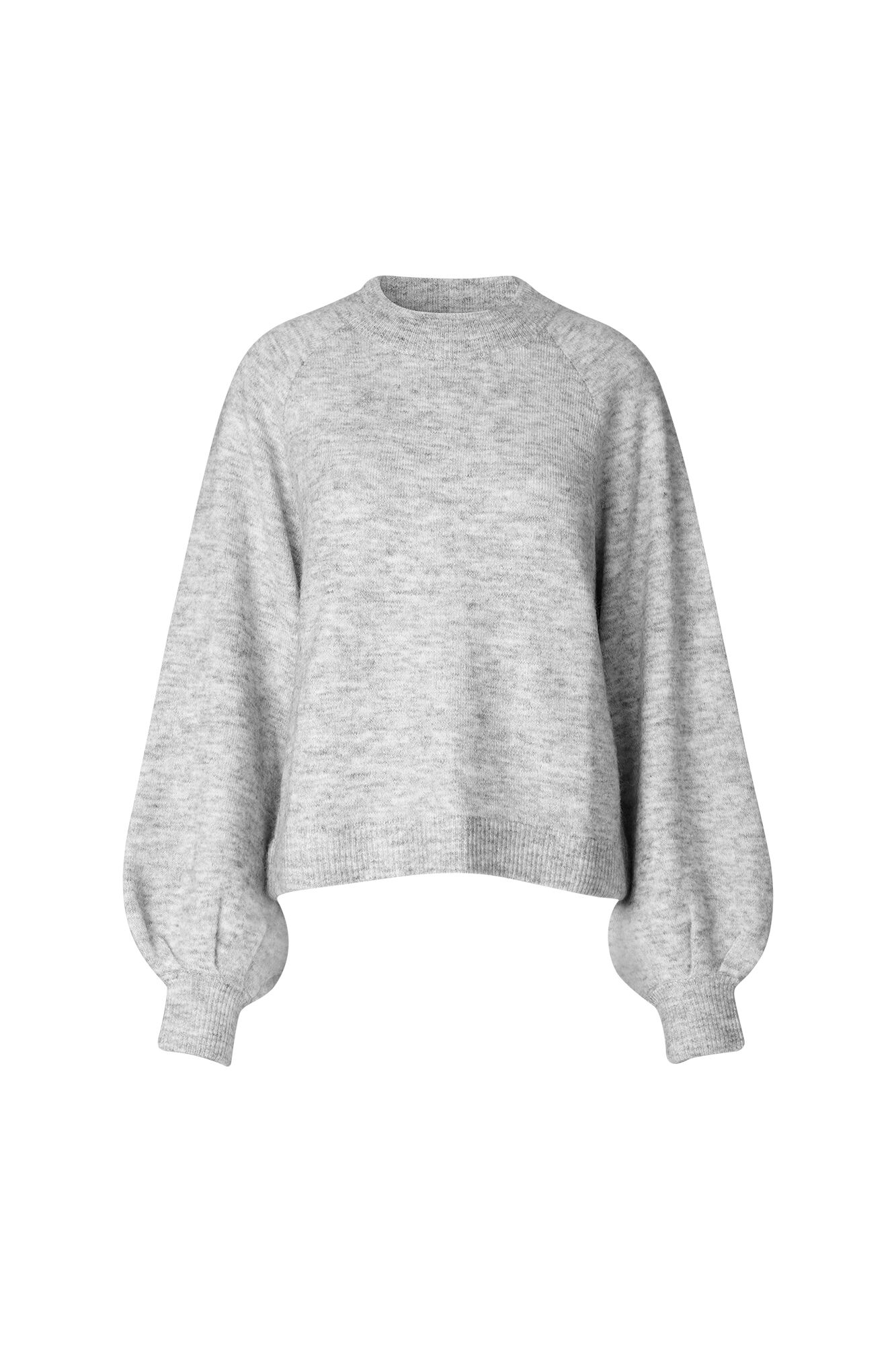 ENFUDGE LS RAGLAN KNIT 5182, LIGHT GREY MEL.