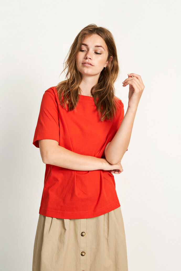 ENBEVERLY SS TEE 5310, HIGH RISK RED
