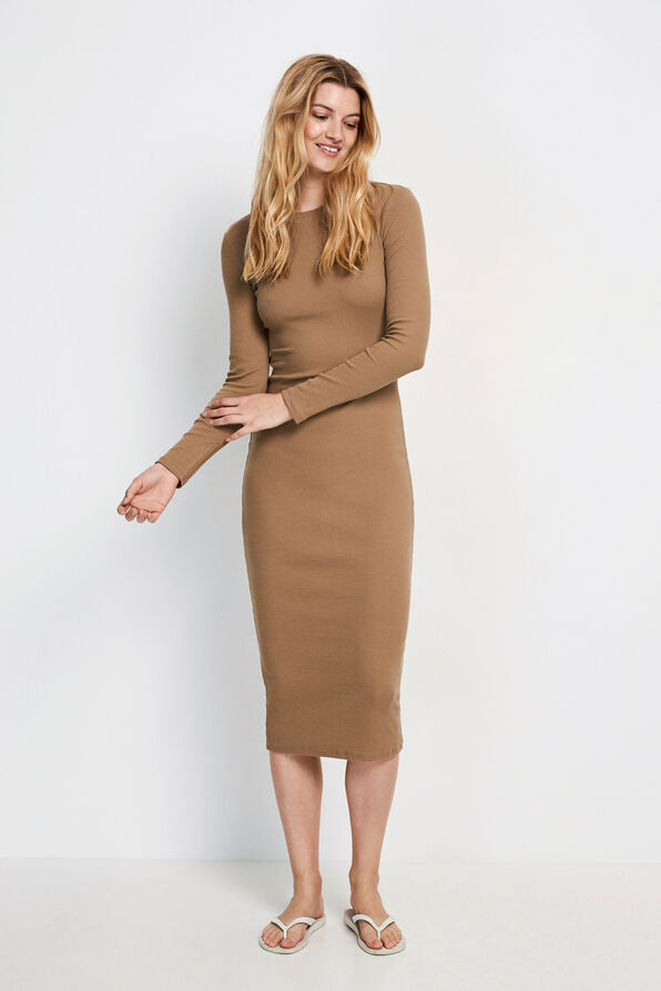 ENALLY LS DRESS 5314, SEPIA TINT