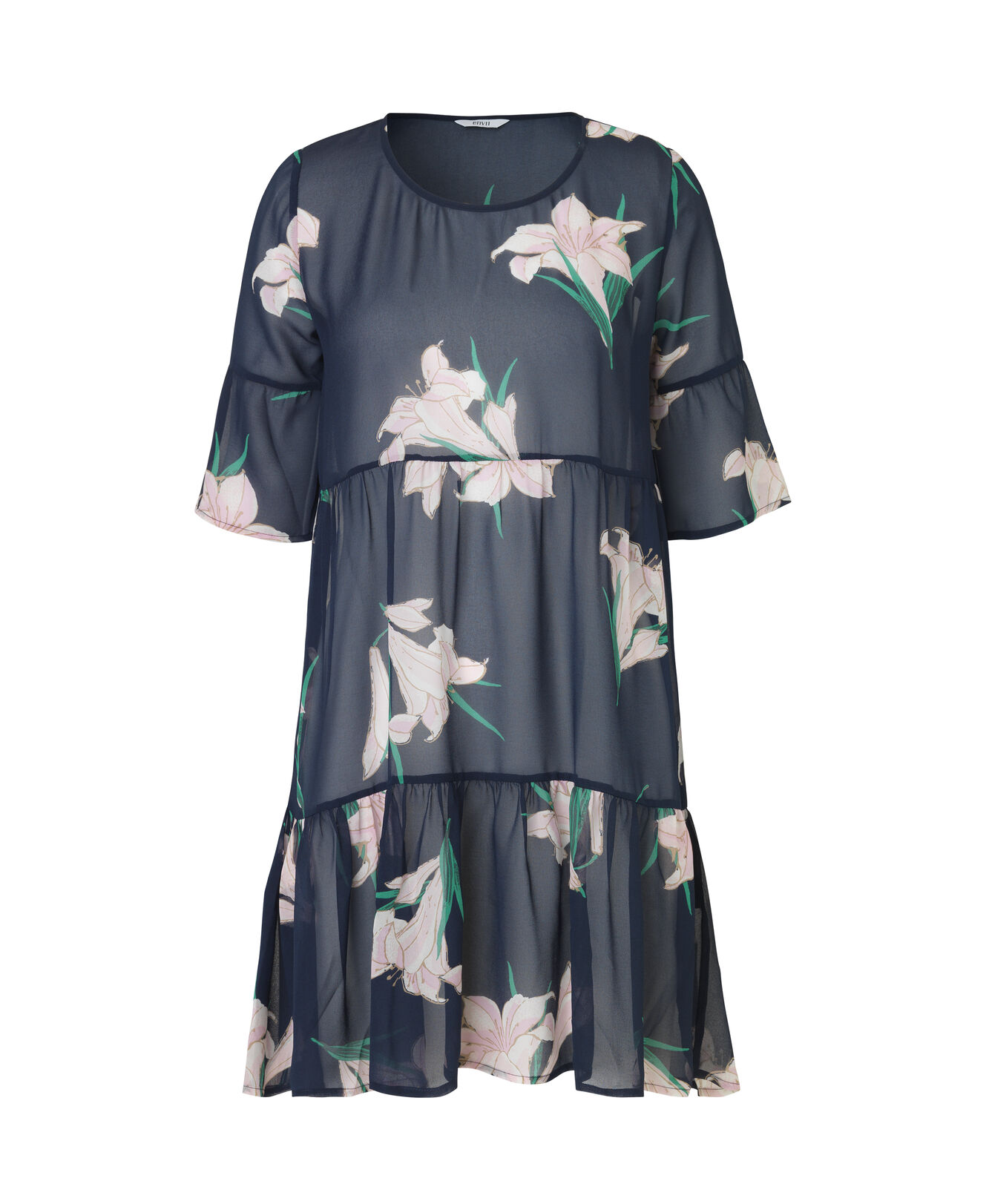 ENMOANA 3/4 DRESS AOP 6395, LILY AOP