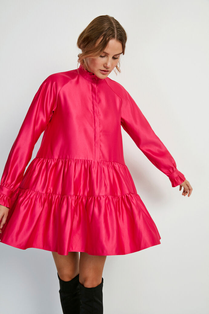 ENALBA LS O-N DRESS 6674, FUCHSIA PURPLE