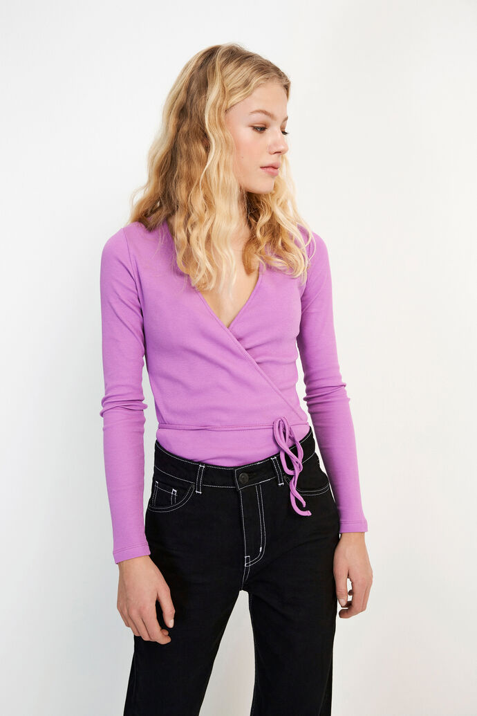 ENALLY LS V-N TEE 5314, ELECTRIC PURPLE