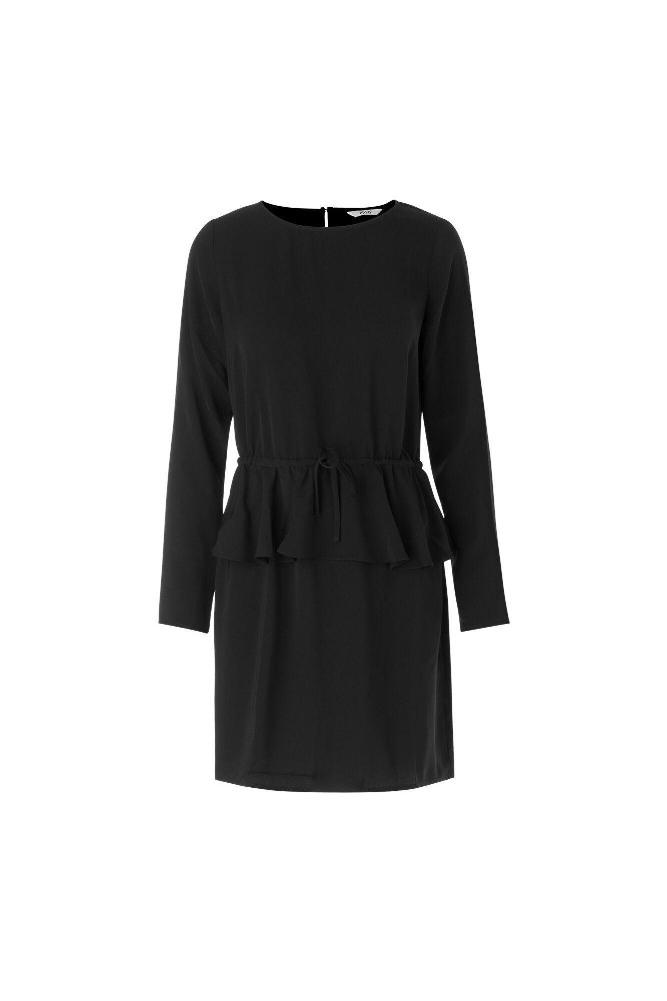 ENALPS LS DRESS 6392, BLACK