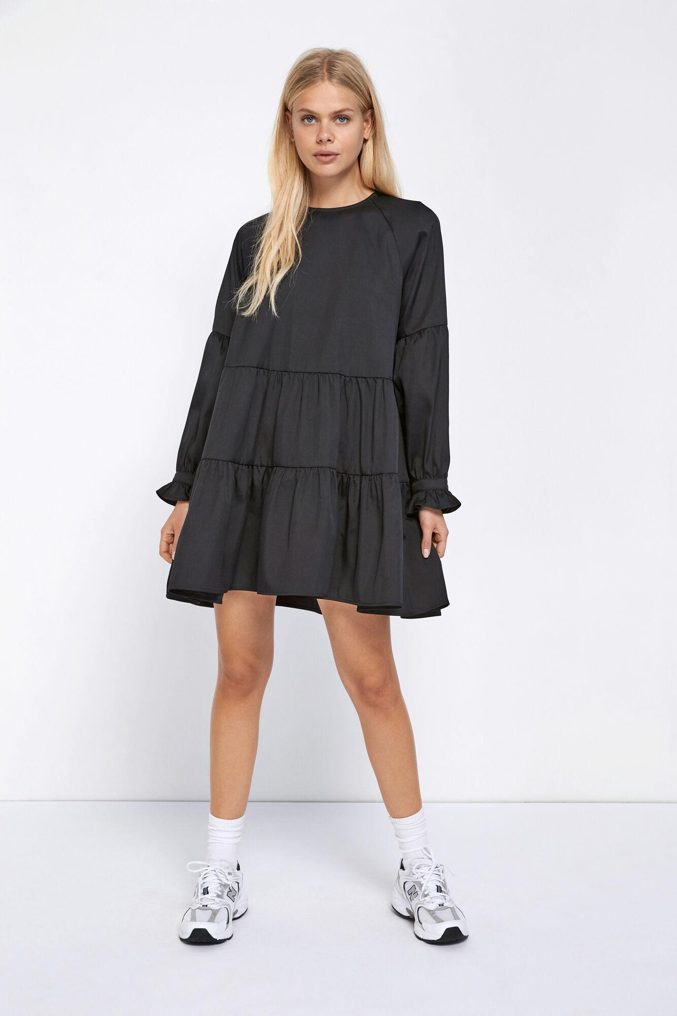 ENFARLOW LS O-N DRESS, BLACK