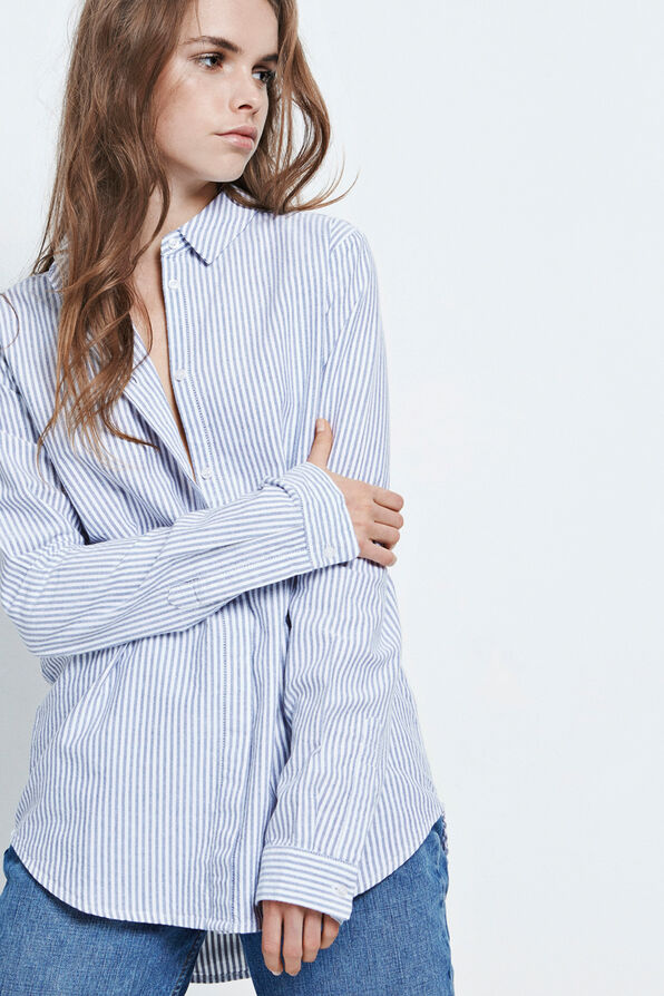 ENRONJA SHIRT 6420, OXFORD BLUE STRIPE