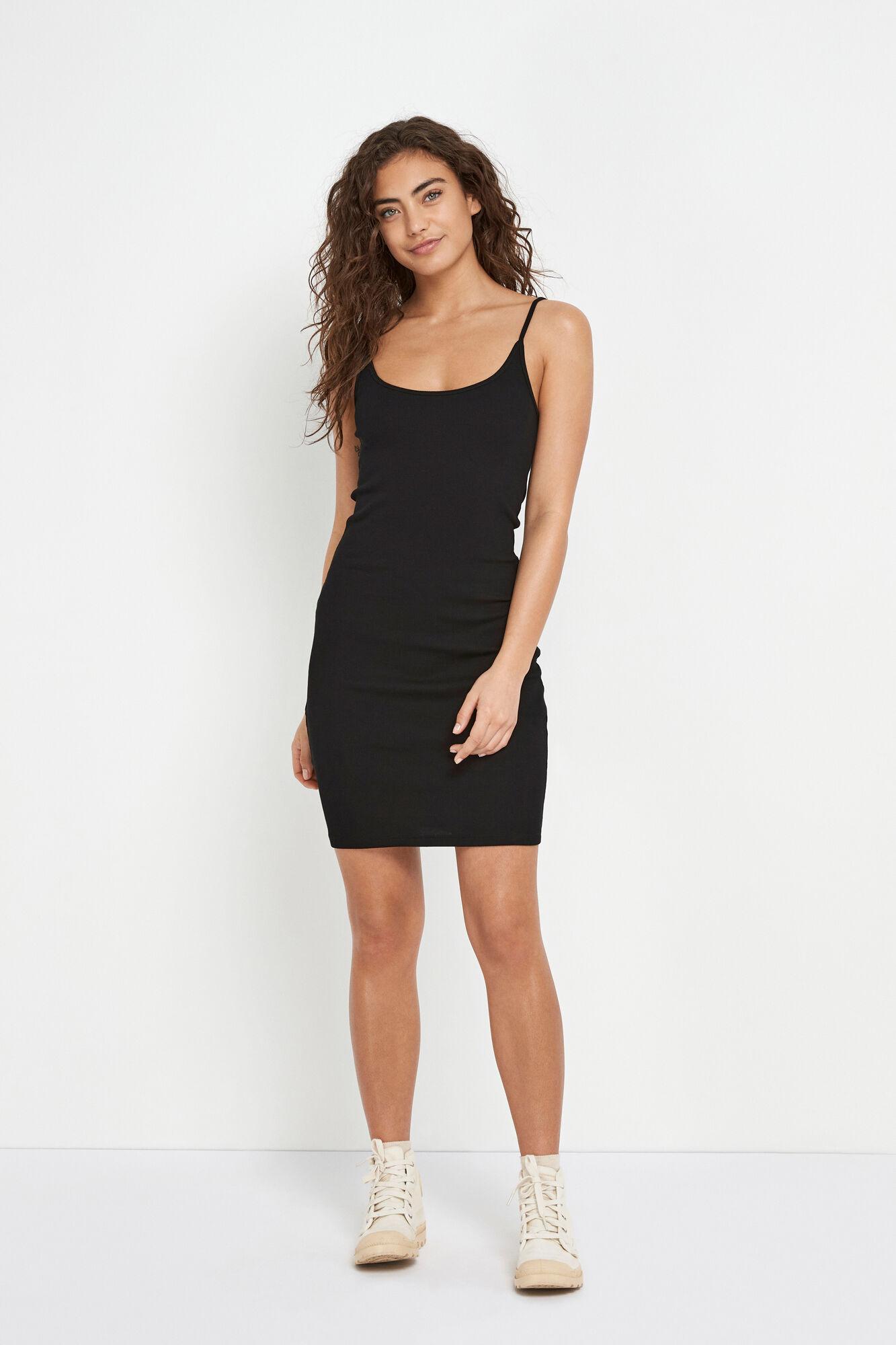 ENALLY SL SHORT DRESS 5314, BLACK