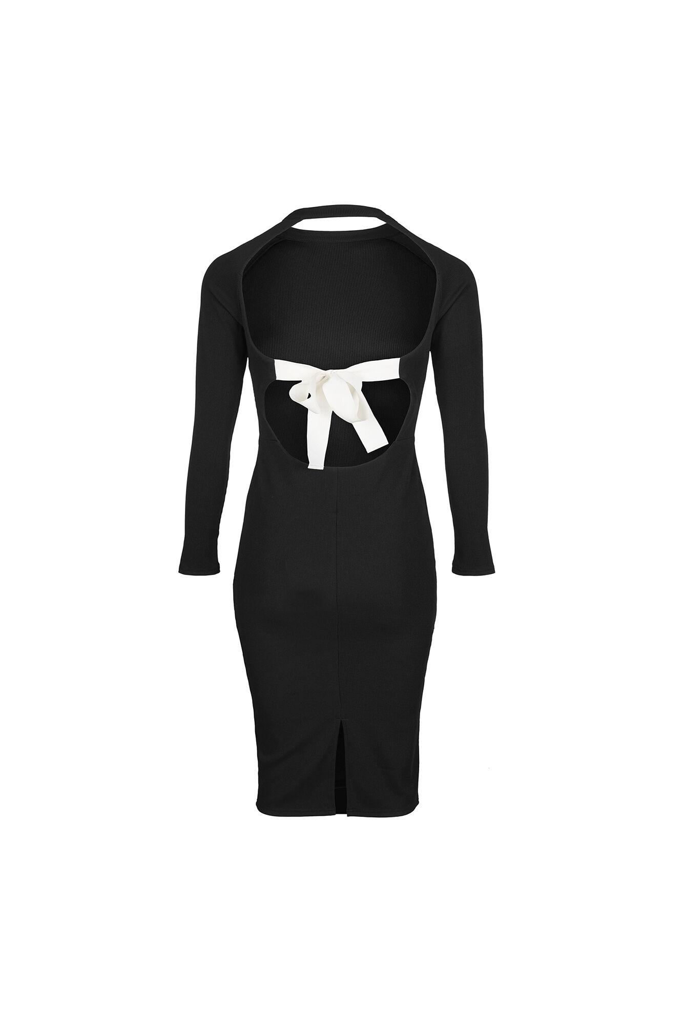 ALEXIS LS DRESS 5850, BLACK