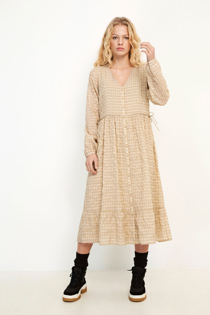 ENCULLINAN LS DRESS 6690, DOESKIN CHECK