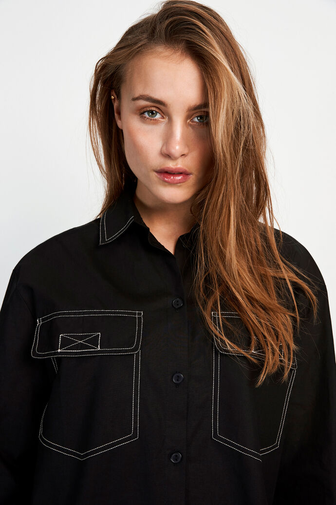 ENTOPAZ LS SHIRT 6691, BLACK