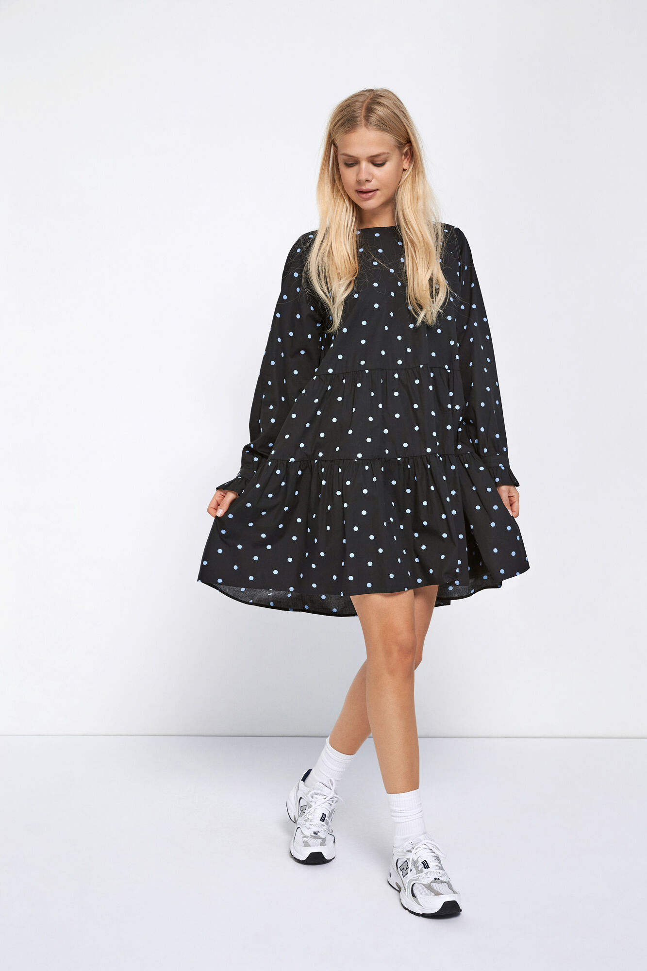ENKIRBY LS O-N DRESS AOP 6818