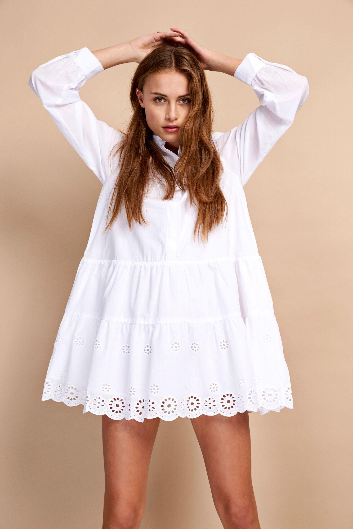 ENCALIMES LS DRESS 6606, WHITE