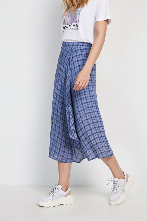 ENSOHO SKIRT AOP 6622, SUBURB CHECK