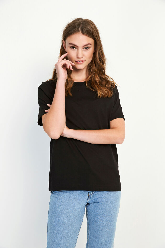 ENBEVERLY SS TEE 5310, BLACK