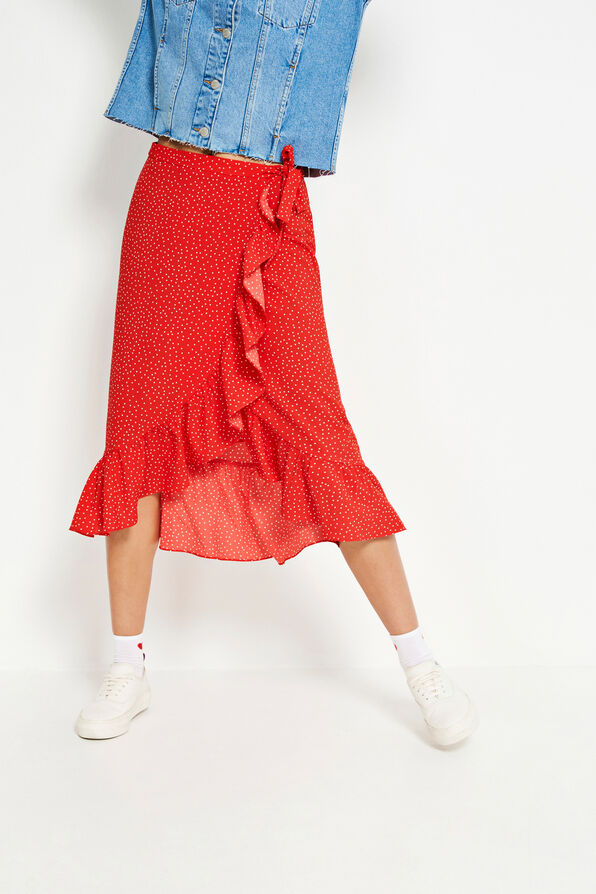ENCHILI SKIRT AOP 6444, LATIN DOT AOP