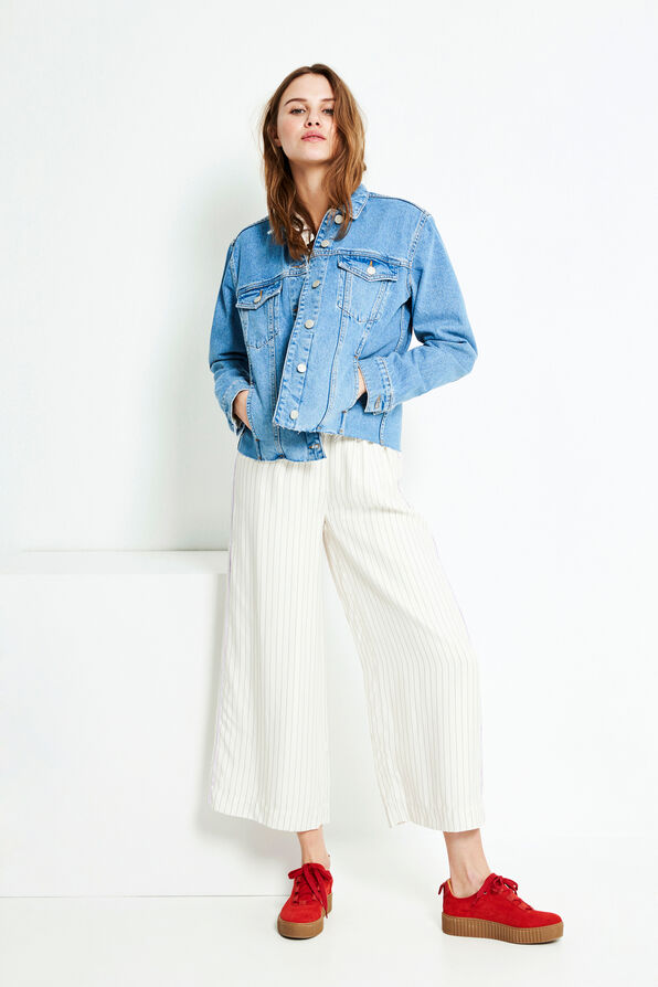 ENFELIZ PANTS 6518, CREAM PINSTRIPE