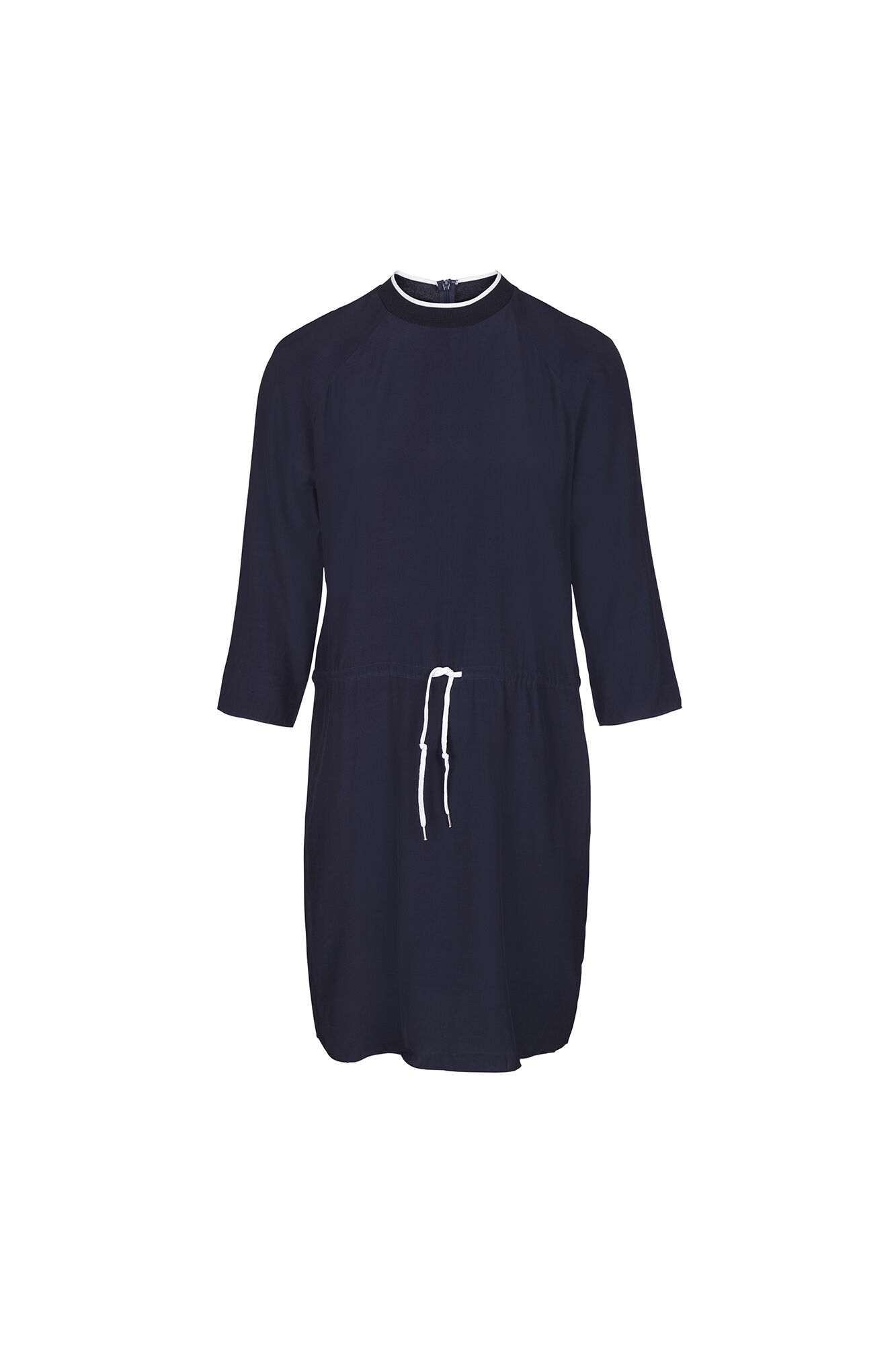 TIRE 3/4 CONTRAST DRESS 6431, NEW NAVY
