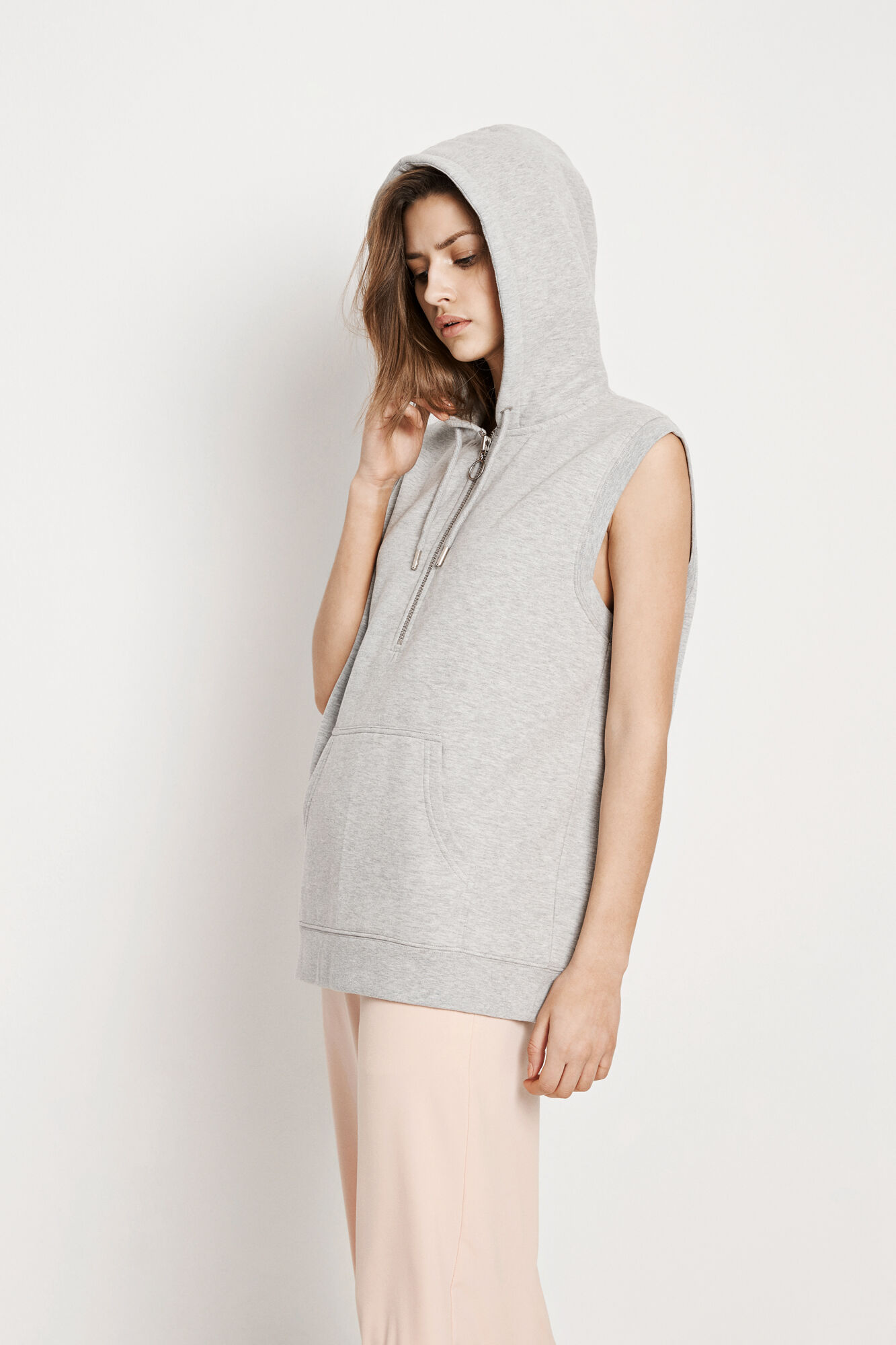 ENMOUNTAIN SL SWEAT 5899, GREY MEL.