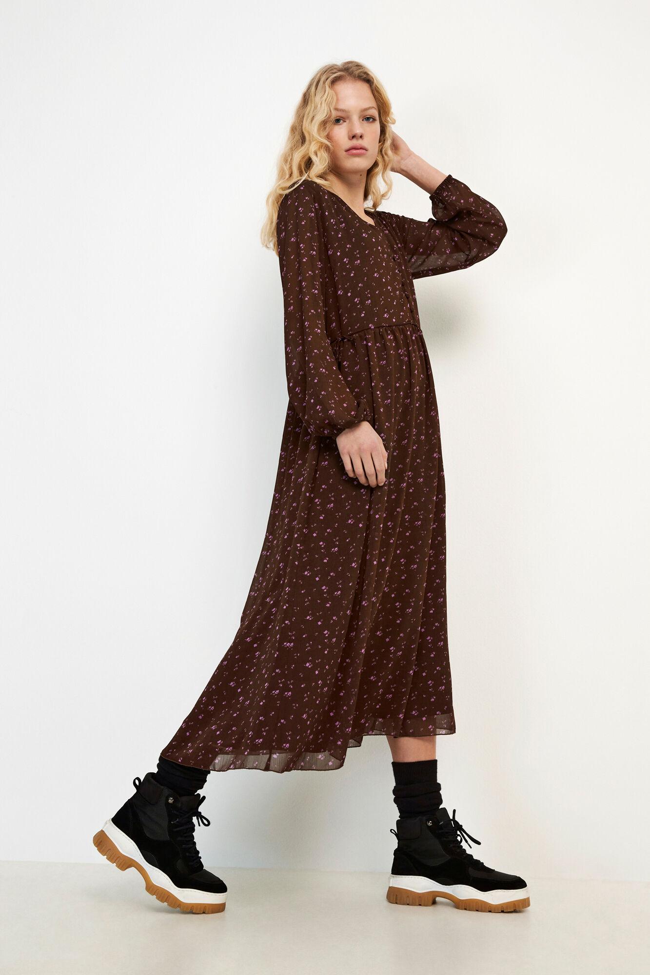 ENAMETHYST LS DRESS AOP 6687