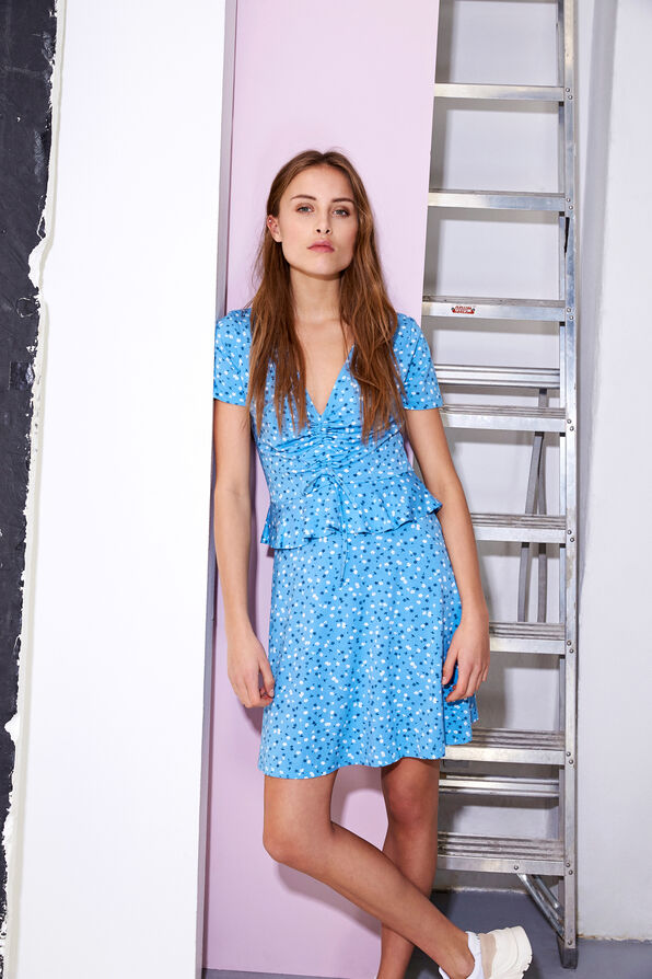 ENLIZARD SS DRESS AOP 5890, FORGETMENOT AOP