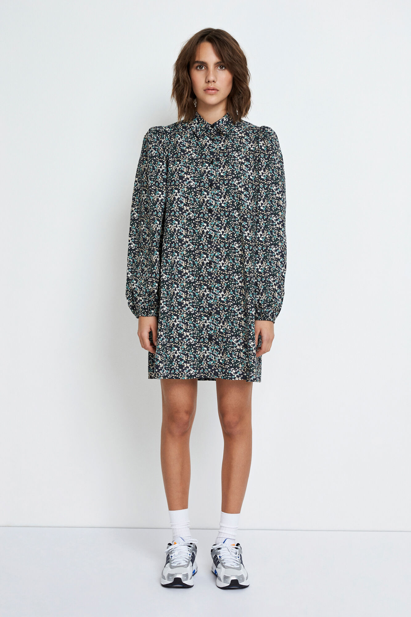 ENGULDBERGS LS DRESS AOP 6796