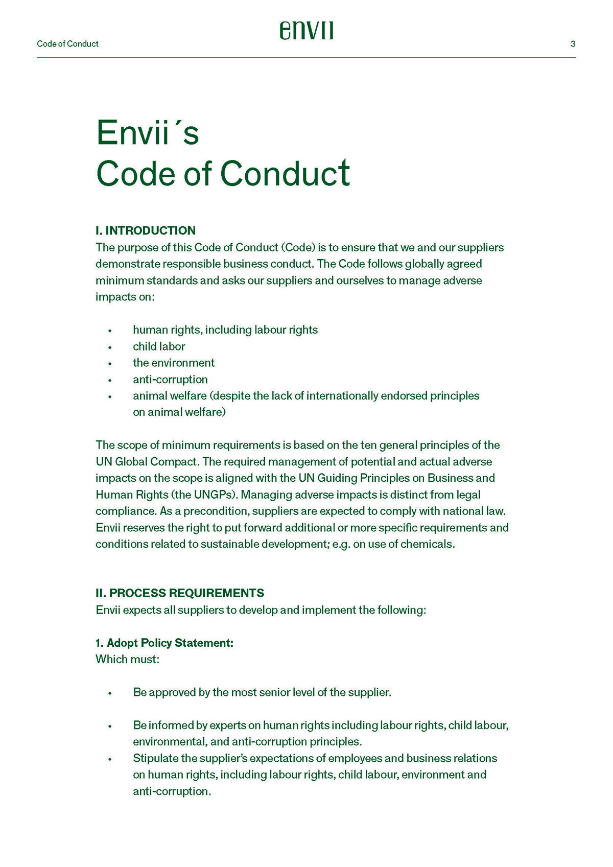 Code of Conduct 3