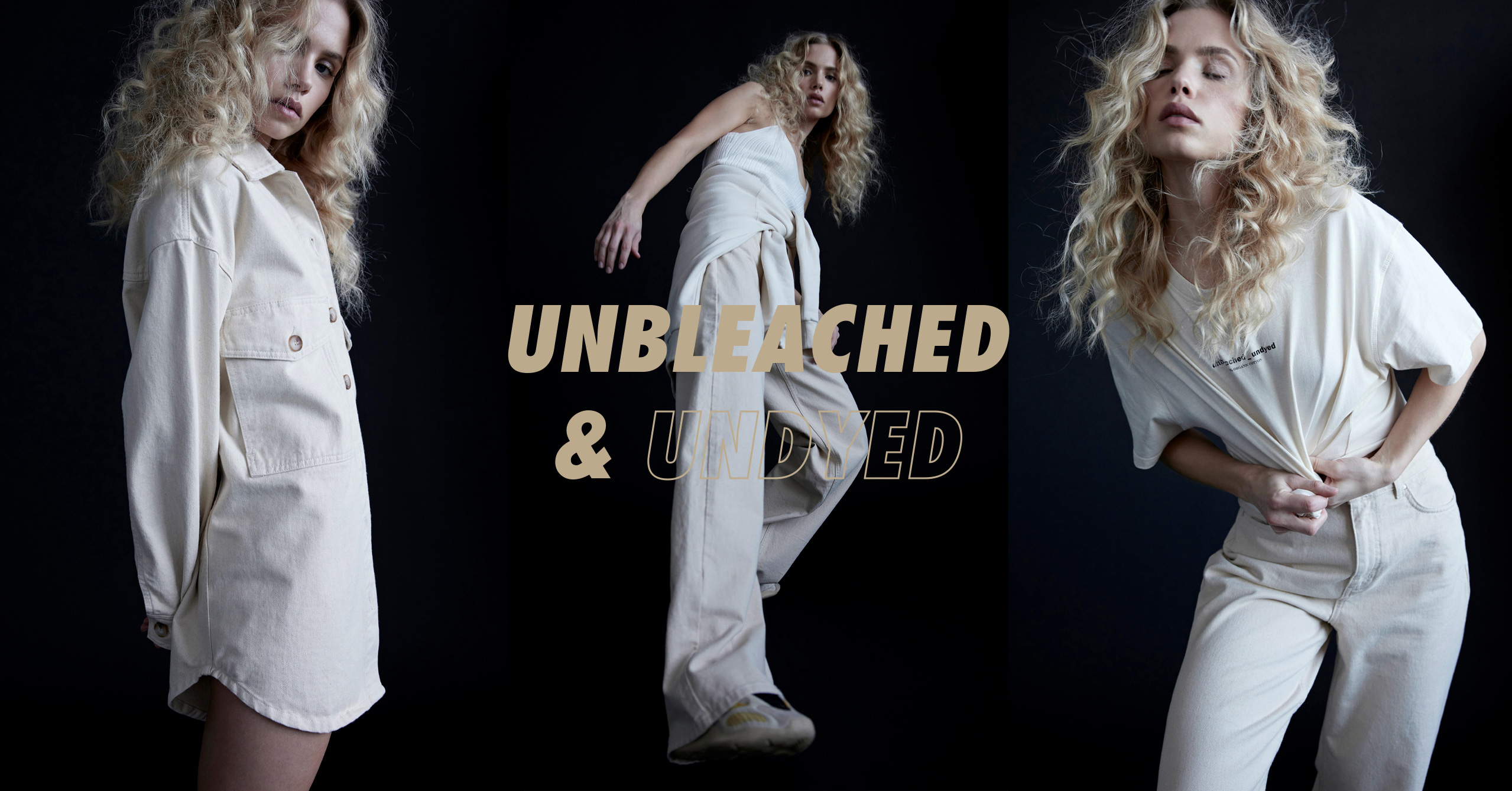 Unbleached undyed women's fashion