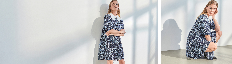 Peplum kjoler til kvinder | Shop online kjoler med peplum